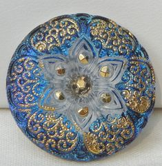 Hey, I found this really awesome Etsy listing at https://www.etsy.com/listing/157215580/lacy-flower-czech-glass-button
