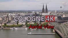 Ultra HD 4K Cologne Germany Aerial View Travel Sightseeings Day Night Shots UHD Video Stock Footage