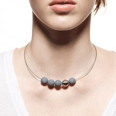 Pretty much the coolest jewelry I've seen in a long time! Concrete and stainless :)