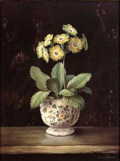 Flower Prints, Flower Art, Seaside Pictures, Primula Auricula, Examples Of Art, Primroses, Nature Illustration, Botanical Prints, Beautiful Landscapes