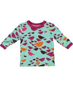 Male super schattige baby t-shirt met vogeltjes print. mala.nl.emilea.be