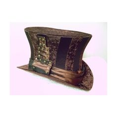 Brown Velvet/Satin Top Hat Steampunk : GypsyLadyHats - ArtFire... (180 CAD) ❤ liked on Polyvore featuring accessories, hats, steampunk, headwear, brown top hat, top hat, steam punk hats, steam punk top hat and velvet top hat