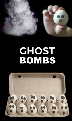 Ghost Bombs for Kids - #halloweencraftsforkids - We recently put a fun spin on traditional smoke bombs and made sidewalk smoke bombs . Rosie and Jewel had so much fun with those that I was inspired to…... Halloween Activities For Kids, Easy Halloween Crafts, Halloween Kostüm, Diy Halloween Decorations, Holiday Crafts, Mummy Crafts, Ghost Crafts, Diy Crafts, Adult Crafts