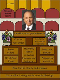 Games and other activities for Family Night: Prophets...President Monson speaks