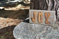 JOY - Reclaimed Wood Sign