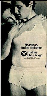 anúncio de malhas Hering de 1970                                                                                                                                                                                 Mais