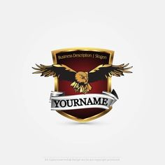 Create a Logo – Eagle Shield logo template