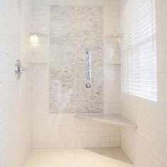Shower Accent Tiles, Transitional, bathroom, Tiek Built Homes