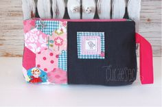 patchwork make up bag by Cul de Sac. 100% eco-friendly, handmade using reclaimed and recycled materials.