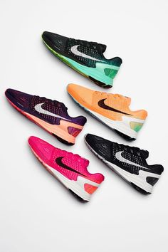 Line up and run brighter in new colorways of the Nike LunarGlide 7.