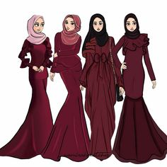 Best Picture For fashion sketches croquis For Your Taste You are looking for something, and it is go Muslim Fashion, Modest Fashion, Hijab Fashion, Trendy Fashion, Fashion Outfits, Fashion Clothes, Stylish Outfits, Fashion Collage, Fashion Art