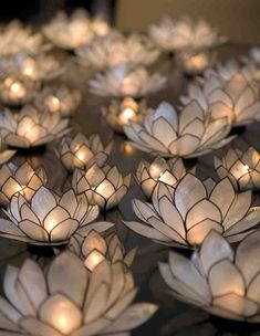 Lotus tealight candle holders