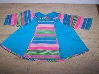 Vintage Multi Color A-Line Dress for (M) Doll Made In Japan