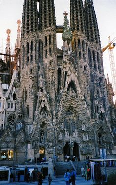 A part of Sagrada Familia, Spain.