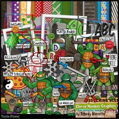 Turtle Power by Clever Monkey Graphics - Digital scrapbooking kits available through Oscraps, GingerScraps, or MyMemories