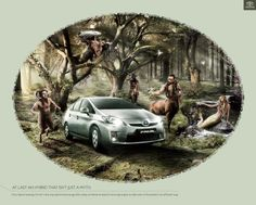 """Toyota Prius--interesting Toyota Prius ad in Germany: """"At last a hybrid that isn't just a myth. Toyota Prius, Desgin, Brand Advertising, Grand Prairie, One With Nature, Car Humor, New Age, Blog, Ads"""