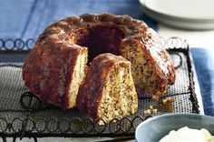 Banana cake with orange maple sauce ~ recipe Kerrie Ray ~ pic Steve brown/NewsLifeMedia
