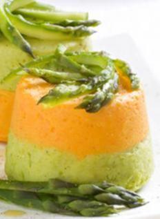 Ricetta Flan bicolori di verdure