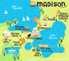 Spend more time in Madison, WI. Great article and illustration from artist Emily Balsley