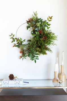 What a lovely way to bring the Forrest inside. Add new treasures with each walk in the woods!