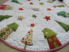 Big Christmas Patchwork, Patchwork Ideas, Tree Skirts, Patches, Xmas, Etsy, Kids Rugs, Stitch, Big