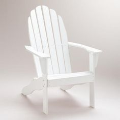 One of my favorite discoveries at WorldMarket.com: Antique White Classic Adirondack Chair