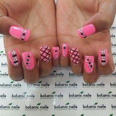 #Pink #Black #GlitterSliver #SliverRhineStone