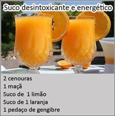 suco desintoxicante e energetico