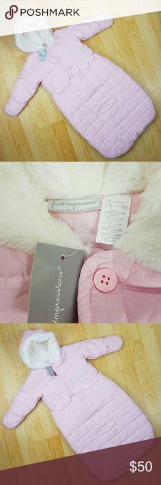 First impressions coat snowbag First impressions coat snowbag. New with tag. First Impressions Jackets & Coats