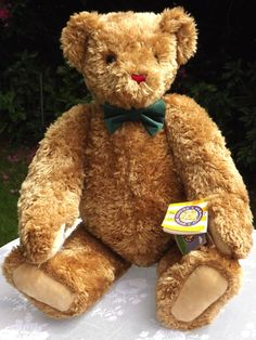 """Vermont Teddy Bear Co Jumbo Classic 36"""" All Jointed Light Brown 2 Hang Tags  #VermontTeddyBearCo #alloccasions"""