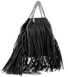 10dabb571b8 Falabella Mini black fringed shoulder bag Luxury Fashion
