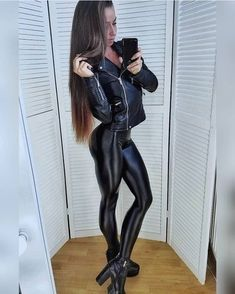 Disco Pants, Skin Tight, Leather Boots, Leather Outfits, Girl Hairstyles, Style Me, Womens Fashion, Model, Latex