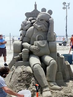 Crazy Impressive Sand Sculpture at the Texas Sandfest Last Weekend