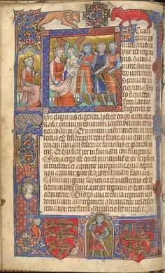 Miniature of Alexander the Great with his advisor, Aristotle, seated behind him, Additional 47680, f. 14v.