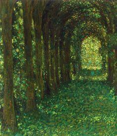"""Henri Le Sidaner """"The Green Lane"""" Seeking Beauty - Art & Mood"""