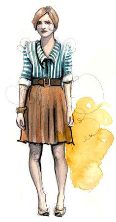 Poppytalk: glorious #fashion #illustration from Katie Rodgers, aka @Katie Rodgers