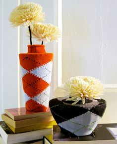 Sock Vases - give your vase some temporary color