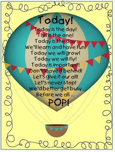 First Grade Wow: beginning of year Hot Air Balloon Classroom Theme, Classroom Themes, Classroom Walls, Transportation Activities, Poetry Journal, School Themes, School Ideas, Beginning Of Year, Teacher Boards