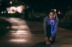 Glowing headphones, pulsates to the beat of your music. makes your workout feel more like a concert!