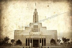 Distressed LDS Draper Temple Custom Print by pseuzyn on Etsy, $40.00