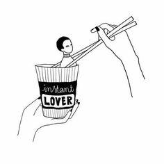 Would you be my instant lover? . #illustration #art #drawing #sketch #illustrations #illustrationoftheday #artwork #sketchbook #illustrator #doodle #instaart #draw #artoftheday #artist #sketching #drawings #instaartist #drawingoftheday #doodles #bìng #bifng #drawmeastory by bifngnguyen