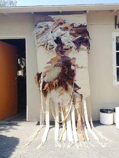 HUGE Vintage Fiber Art Wall Hanging