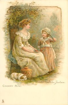 CHERRY RIPE-painted by Helen Jackson..First Use:21/12/1905