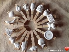 Gessetti Decor Crafts, Diy And Crafts, Crafts For Kids, Arts And Crafts, Baking Soda Clay, Plaster Crafts, Clothes Pegs, Hobbies And Crafts, Diy Gifts