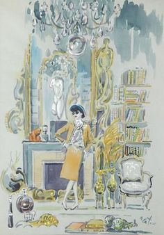 View Portrait of Coco Chanel in her salon by Cecil Beaton on artnet. Browse upcoming and past auction lots by Cecil Beaton. Art Deco, Art Nouveau, Alphonse Mucha, Gabrielle Bonheur Chanel, Mademoiselle Coco Chanel, Fashion Art, Vintage Fashion, 1960s Fashion, Fashion Design