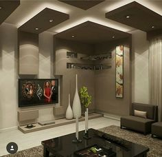 Ceiling Design Living Room, Bedroom False Ceiling Design, Home Room Design, Home Ceiling, Home Interior Design, Living Room Designs, Foyer Design, Tv Wall Design, Plafond Design