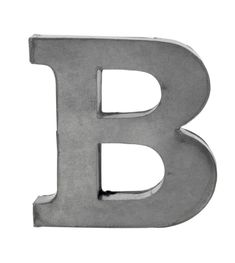 Zinc Letters by horsfall & wright, the perfect gift for Explore more unique gifts in our curated marketplace. Letter B, Budapest, Something To Do, Wedding Gifts, Alphabet, Typography, Wall Art, Decor, Danish