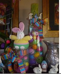 Easter decorations that look easy to make from these pics.