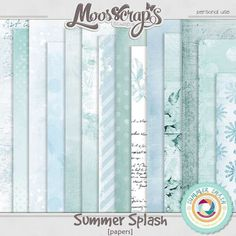 Description:  Here is a papers pack created with the collection Summer splash by Moosscrap's Designs.