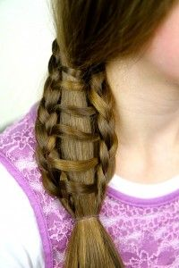 Ladder Braid into Side Ponytail | Cute Hairstyles